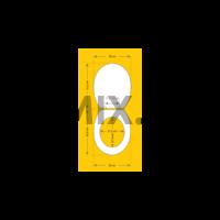 Bath Duck Wc-Ülőke - Mdf - Mintás - Rozsdamentes Acél Zsanérokkal - Orchidea