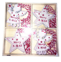 Karácsonyfadísz fa 12db-os Csillag és Angyal