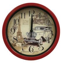 Falióra A100180 kicsi Eiffel-torony piros keret