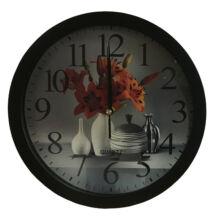 Falióra A100188 színes virág 4 vázával fekete keret