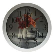 Falióra A100188 színes virág 4 vázával fehér keret