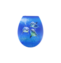 Bath Duck wc ülőke - Mdf - cink zsanérokkal - Delfin