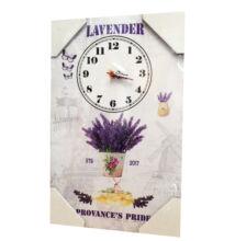FALI ÓRA TÁBLAKÉP - Lavender Provance 40x25cm