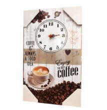 FALI ÓRA TÁBLAKÉP - Enjoy the best Coffee 40x25cm