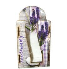 FALI ZSEBKENDŐ TARTÓ fa Lavender masnis