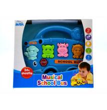 Zenélő iskolabusz állathangokkal - Kék