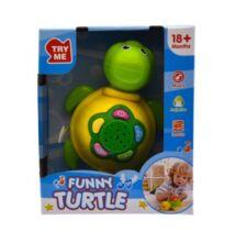 Bébi projektor - teknős zöld