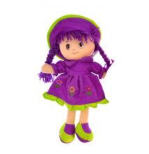 Rongybaba Lila ruhás 30cm