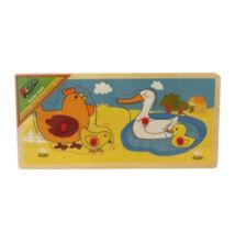 Állatos puzzle anya+kölyke párosító - Tyúk - Kacsa