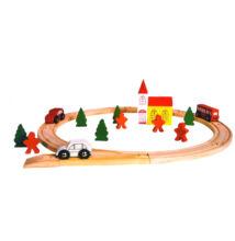 Fa vonat készlet 25db - Város