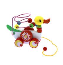 Fa Montessori húzós kacsa - ügyességi játék