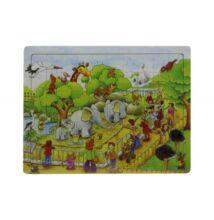 Fa puzzle - elefántos 60db-os
