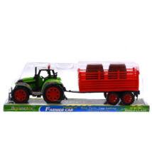 Farm Traktor utánfutóval 12cm