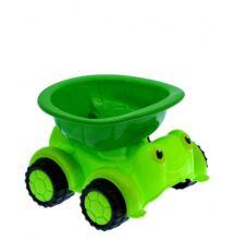 Homokozós autó - zöld teknős