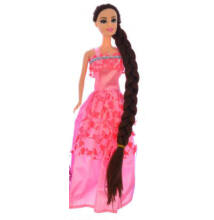 BABA Jessica hosszú hajú Rózsaszín 30cm