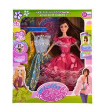 Baba Girl 3 féle ruha készlettel 30cm