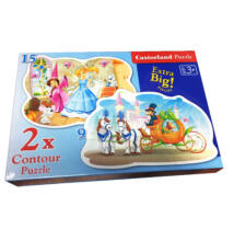 Puzzle 2in1 kirakó - Hercegnős 15+9 db-os