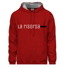 La Risorsa férfi piros pulóver