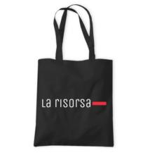 La Risorsa fekete vászontáska