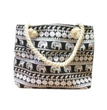 Női táska elefántos mintával fekete 100258