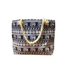 Női táska elefántos mintával kék 100259