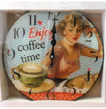 FALIÓRA ÜVEG kerek Coffee Time Retro 30cm 203260