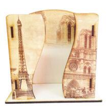 Asztali zsebkendő tartó fa Parizs