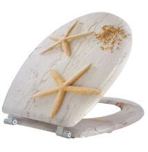 Bath Duck Wc-Ülőke - MDF - Mintás - Rozsdamentes Acél Zsanérokkal - Starfish