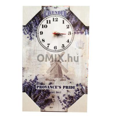 Fali óra táblakép - Szélmalom Lavender Pride 40x25cm