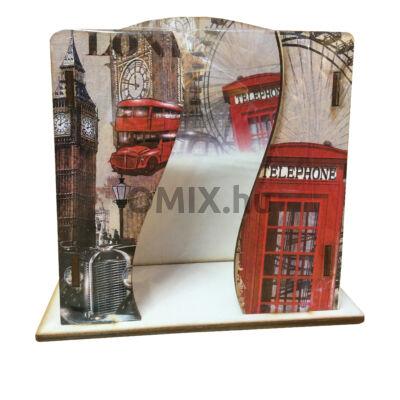 Asztali zsebkendő tartó fa London