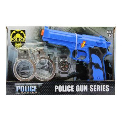Kék játék pisztoly készlet