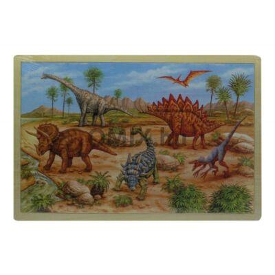 Fa puzzle - dinós 100db-os