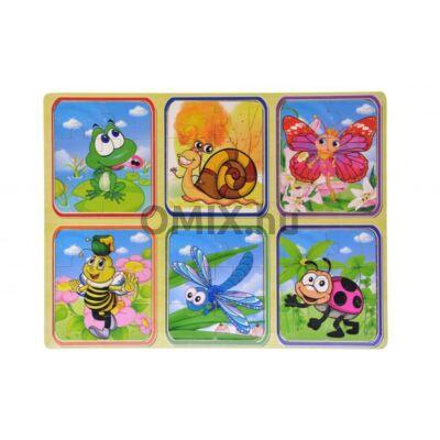 Fa puzzle 6 féle kép