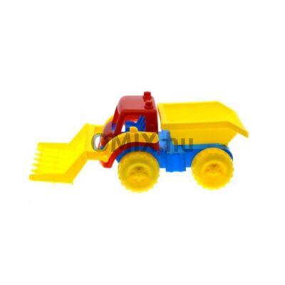 Munkagép - markoló piros/sárga 31 cm