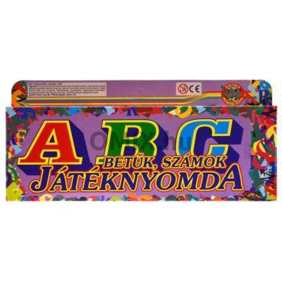 Játéknyomda - ABC betűk, számok - 18db-os