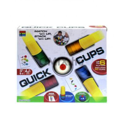 QUICK CUPS Ügyességi Társasjáték poharas csengővel