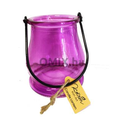 MÉCSESTARTÓ Kexin üveg Lila KX9961