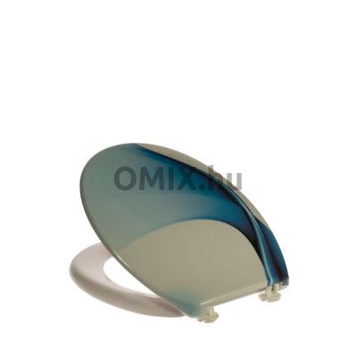BATH DUCK WC ÜLÖKE Duroplast Kék hullám mintás TSDPLD2