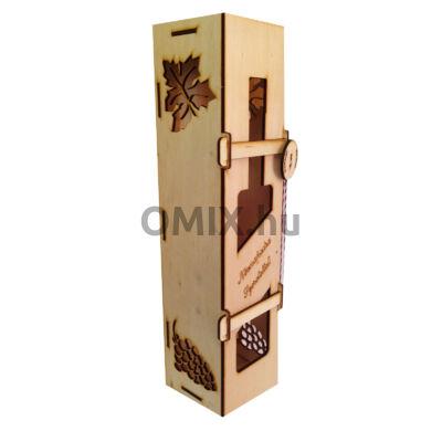 Bortartó fa ajándék doboz Névnapra felirattal