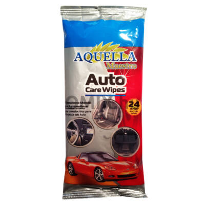 AQUELLA Autoápoló nedves kendő 24db 100252