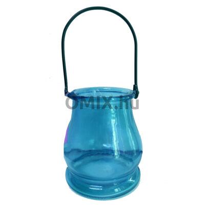 MÉCSESTARTÓ Kexin üveg kék KX9961