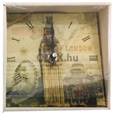 ÜVEG ÓRA négyzet London Big Ben 15cm 203155