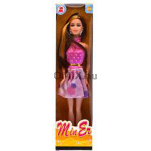 Baba MinEr Girl - Lila szoknyás vékony baba