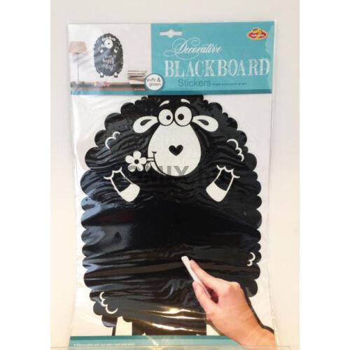 Kréta tábla fali matrica - Fekete Bárány 30x50cm