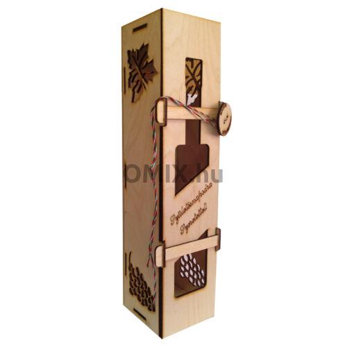 BORTARTÓ fa ajándék doboz Születésnapra felirattal
