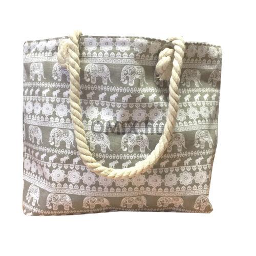 Női táska elefántos mintával szürke 100257