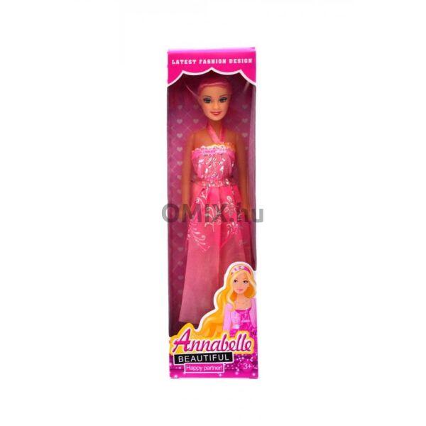 Annabelle - hosszú ruhás baba rózsaszín doboz