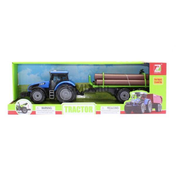 Traktor - rönkszállító, kék