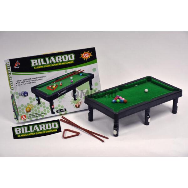 Mini billiárd játék asztal és eszközök