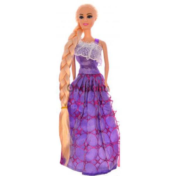 Baba Jessica hosszú hajú Lila 30cm